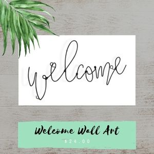 Welcome Wire Wall Art